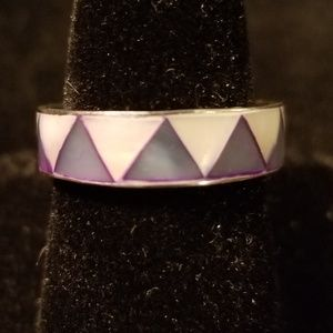 Native American Sterling Silver MOP Ring Beautiful